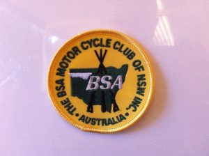 Club yellow stitch on badge